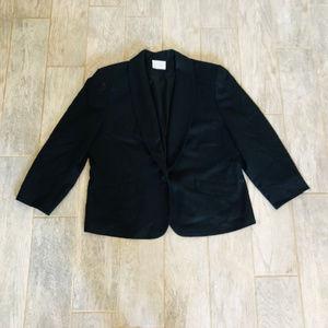 Pendleton blazer suit jacket coat plus black wool